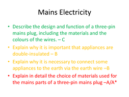 Admirable Mains Electricity By Crf509 Teaching Resources Wiring Database Gramgelartorg