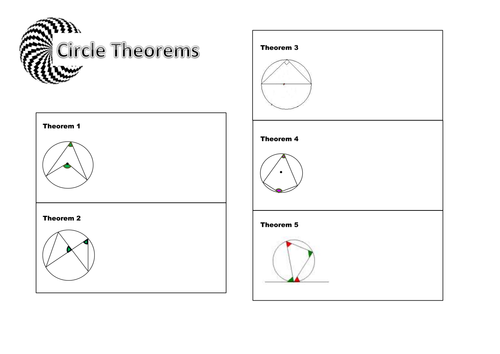 circle theorems revision page by caleech teaching resources tes. Black Bedroom Furniture Sets. Home Design Ideas