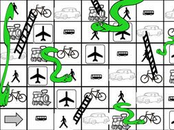 Snakes and ladders - transport - any language