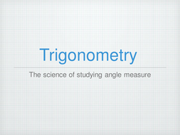 PowerPoint Lessons on Trigonometry