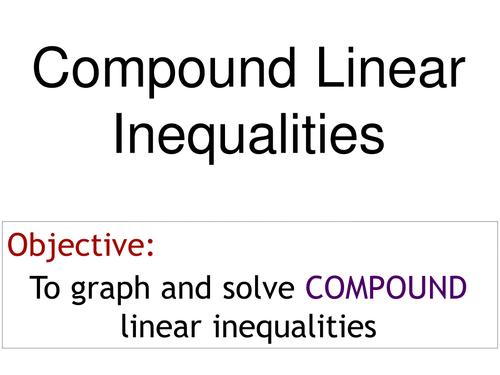 PowerPoint Presentation on Intermediate Algebra by