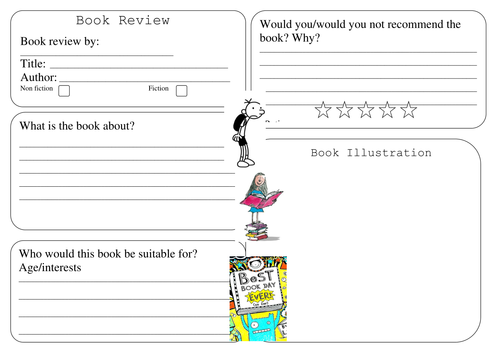 Fiction book review template ks2 – Book Review Template