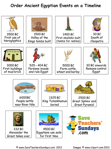 ancient egypt timeline plan and events to order by saveteacherssundays teaching resources tes. Black Bedroom Furniture Sets. Home Design Ideas
