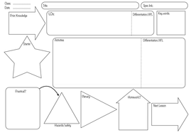 lesson planning form by mcbridge teaching resources tes