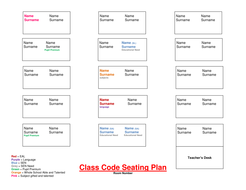 seating plan template 3docx