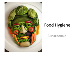 Food Hygiene: PowerPoint Lesson Plan