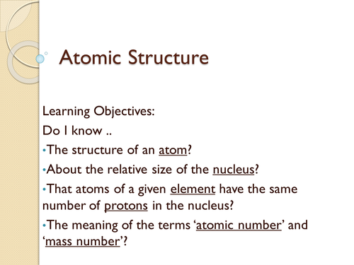 Atomic structure by kbuxey teaching resources tes ccuart Choice Image