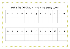 Capital Letter Worksheet by missyrobinson - Teaching Resources - Tes