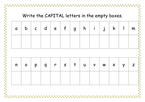 Capital Letter Worksheet by missyrobinson Teaching Resources Tes – Lowercase a Worksheet