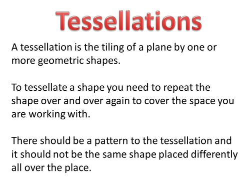 Worksheet Tessellations Worksheet tessellations worksheet by tristanjones teaching resources tes pptx