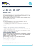 Be Bright Be Seen - Home Link Sheet