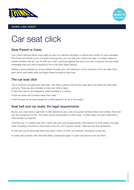 In Car Safety - Home Link Sheet