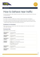 Behaving Near Traffic KS1 - Lesson Plan