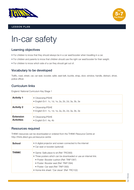 In Car Safety KS1 - Lesson Plan