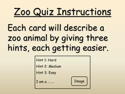 Zoo animal quiz