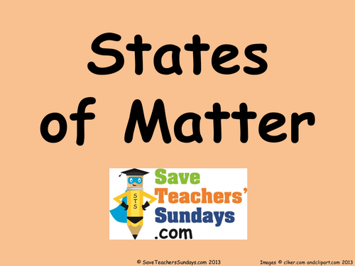 States of Matter lesson plan PPoint and Worksheet by