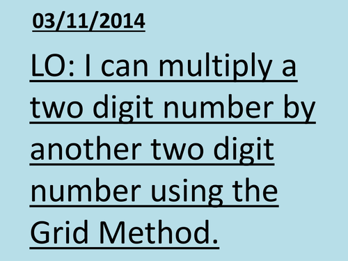 Grid Method for Multiplication by RJSENIOR Teaching Resources Tes – Ks2 Grid Method Multiplication Worksheet