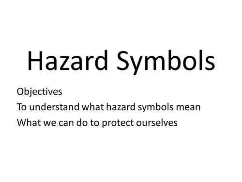 New Hazard Symbols by richardstewart Teaching Resources TES – Lab Safety Symbols Worksheet