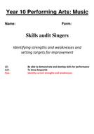 Baseline assessments NCFE Creative Studies: Perf