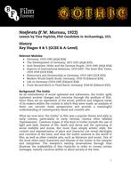Nosferatu - KS4/5 History