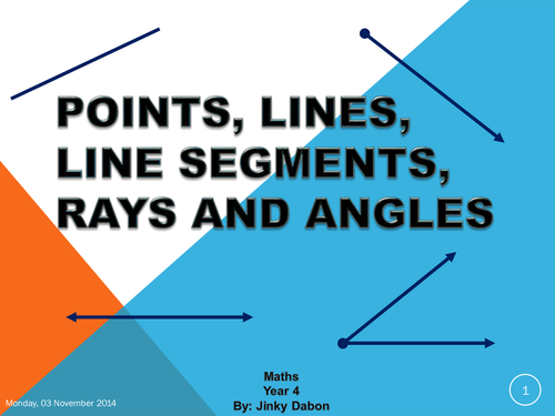 Drawing Lines Segments And Rays : Points lines segments and angles by jinkydabon
