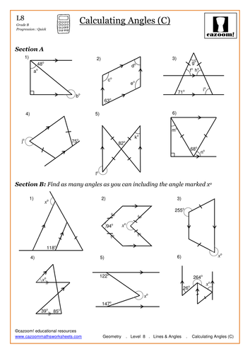 finding missing angles in triangles worksheet worksheets releaseboard free printable. Black Bedroom Furniture Sets. Home Design Ideas