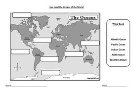 Label the oceans by stefanietuesday teaching resources tes label the oceans gumiabroncs Images