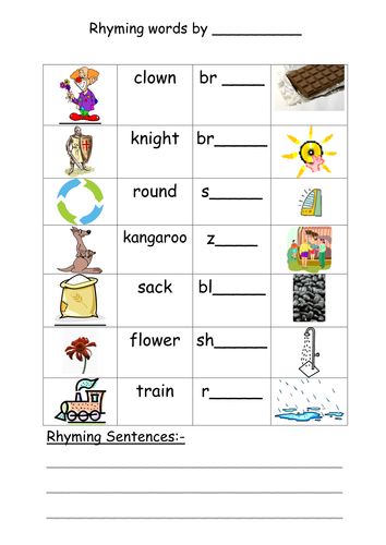 Worksheets Rhyming Sentence sentences with rhyming words for kids virallyapp printables worksheets by annhatton teaching resources tes rhyme it