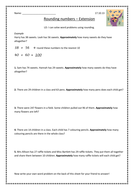 Rounding word problems