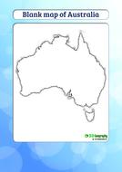 blank map of australiapdf
