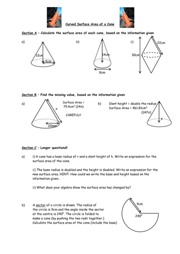 Surface Area Of Non Prisms Resources Tes