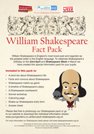 William Shakespeare Fact Pack for Key Stage 2