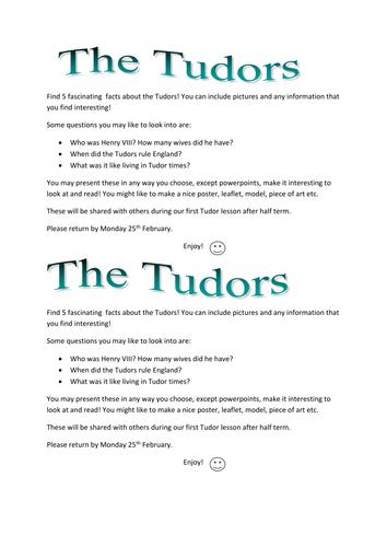 tudor preparation activities