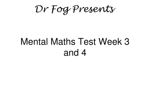 FREE Year 5 PowerPoint Mental Maths Tests (3 weeks) by peterfogarty ...