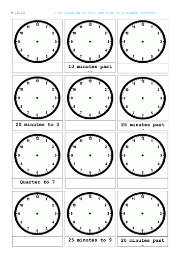 reading a clock telling time analogue and digital by mip2k teaching resources tes. Black Bedroom Furniture Sets. Home Design Ideas