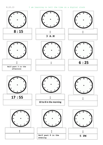 Reading a clock/telling time analogue and digital by mip2k
