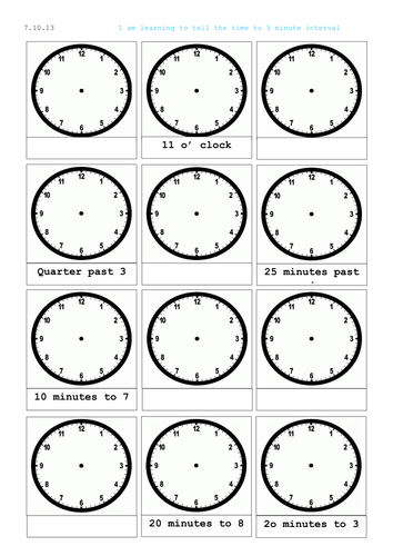 Time Worksheets : time worksheets year 1 tes Time Worksheets Year ...