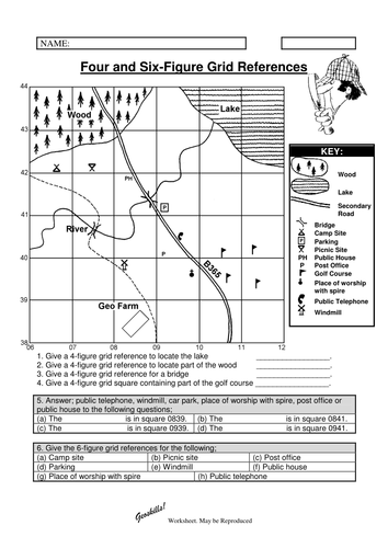 Grid Map Worksheet - Sharebrowse