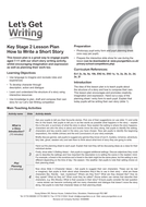 Story Writing Lesson Plan, Planning Sheet for KS2