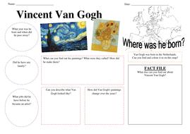 Vincent Van Gogh fact finder