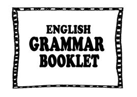 Grammar Verbs Booklet (Present, Past Tense) by Shyyka