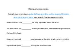 iron man complex sentence worksheet - Complex Sentences Worksheet