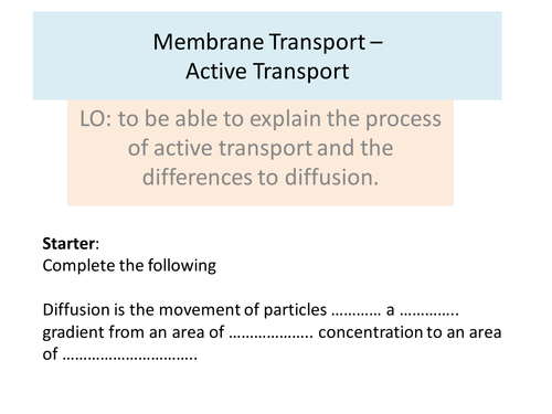 Active transport worksheets by KatieBall Teaching Resources TES – Active Transport Worksheet