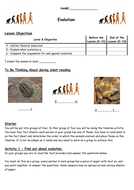 Worksheets Work Sheet Of Evolution Course evolution by biscuitcrumbs teaching resources tes worksheet lower docx