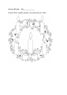 Advent Wreath Colouring Sheet Five Candles