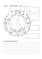 advent wreath colouring sheet five candles by jafflepie. Black Bedroom Furniture Sets. Home Design Ideas