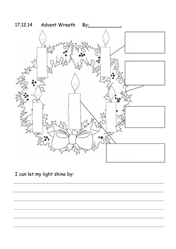 Ambitious image throughout advent wreath printable