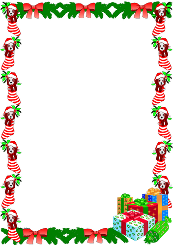Christmas Page Borders.Christmas Themed Lined Paper And Pageborders By Jinkydabon