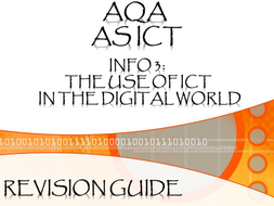 ICT  Revision Guide (INFO 3)
