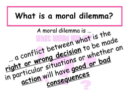 examples of moral dilemma situations